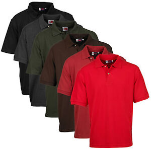 UOMO-US-BASIC-POLO-casual-abbigliamento-lavoro-pique-manica-corta-in-cotone