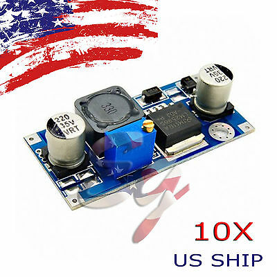 10X Re DC-DC 3A Buck Converter Adjustable Step-Down Power Supply Module LM2596S