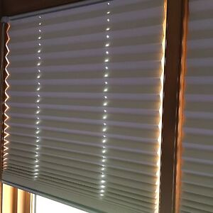 Custom blinds light colour, pleaded