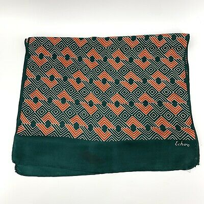 Vintage Scarf Styles -1920s to 1960s Vintage Echo Scarf Christmas Green Red White Head Wrap $9.98 AT vintagedancer.com