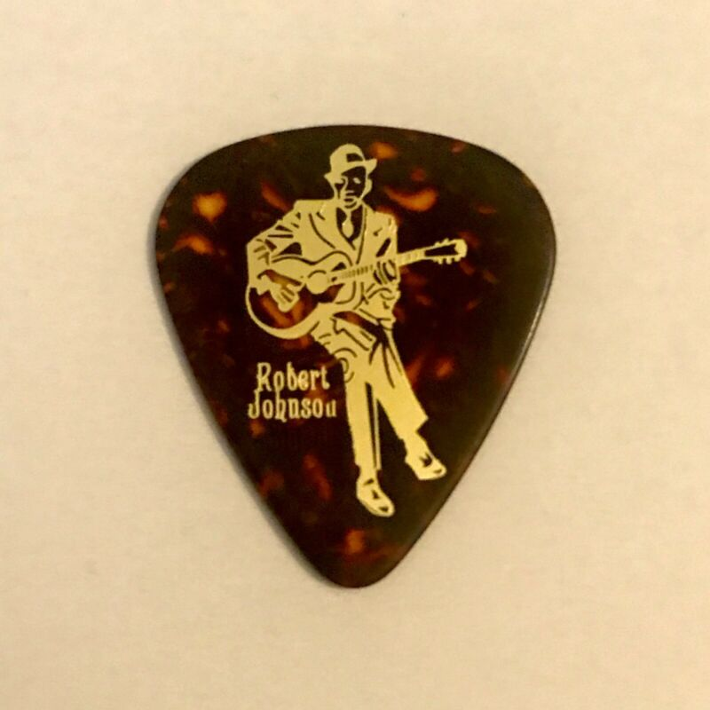 ROBERT JOHNSON Custom Guitar Pick KING OF THE DELTA BLUES 🎸.80 CELLULOID🎸