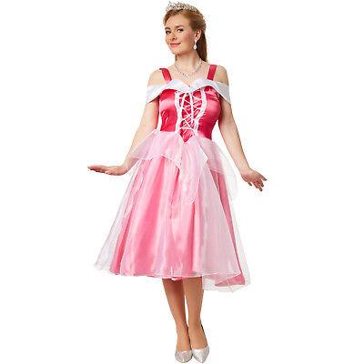 Kostümen Filme (Damen Kostüm Prinzessin Aurora elegantes Kleid Film Königin Dornröschen Karneval)