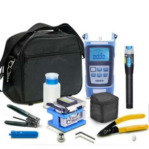 FDA Fiber Optic FTTH Tool Kit With FC-6S Fiber Cleaver & Optical Power Meter 5km
