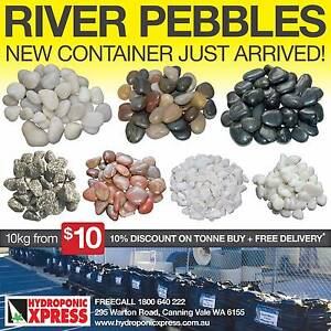 LARGE RANGE OF RIVER PEBBLES STARTING AT JUST $10 A BAG!!! Canning Vale Canning Area Preview