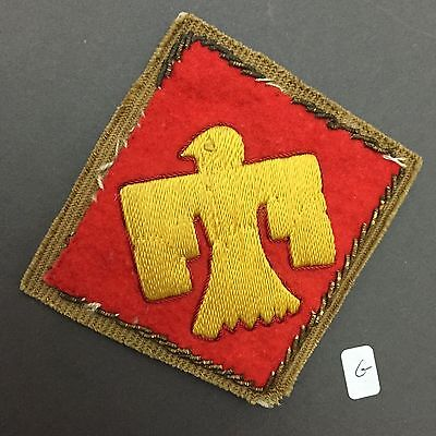 Rare Original WW2 US Army 45th Infantry Bullion Patch made in Germany . #G