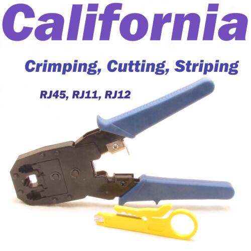 Crimping Tool Cable Stripper Crimper Cutter Punch Down RJ45 CAT5 CAT6 CAT6e CAT7