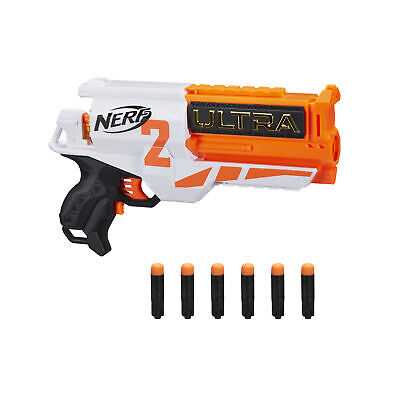 Nerf Ultra Two Motorized Blaster - Fast-Back Reloading, 6 Nerf Ultra Darts