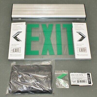Lithonia Lighting Led Edge-lit Exit Sign Edg 1 G El Sd 120v277v Ac Green