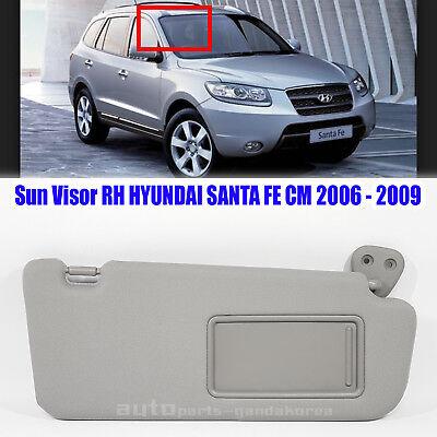 852202B511J4 Sun Visor Inside Right Gray HYUNDAI SANTA FE CM 2006-2009