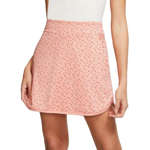 NIKE Womens Dri-FIT Printed Golf Skort Skirt - Peach - Size XS