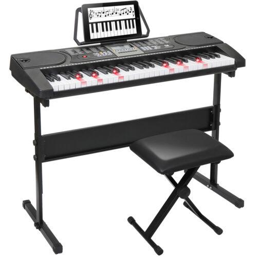 61-Key Portable Electronic Keyboard Piano w/  Stand Stool He