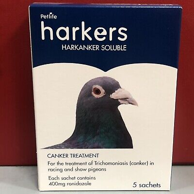 Harkers Harkanker Soluble Pigeon Canker Treatment Trichomoniasis Racing Or Show