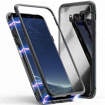 Magnet Bumper Case für Galaxy S7 edge S8 S9 Plus Handy Hülle Glas Metall Hülle Galaxy Metall