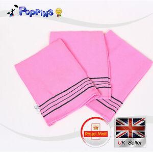 Korean Bath Shower Songwol Italy Towel Body Scrub Exfoliating Towels 3PCS PINK