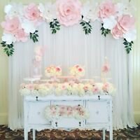 Paper Flower Wall Backdrop $150 & UP