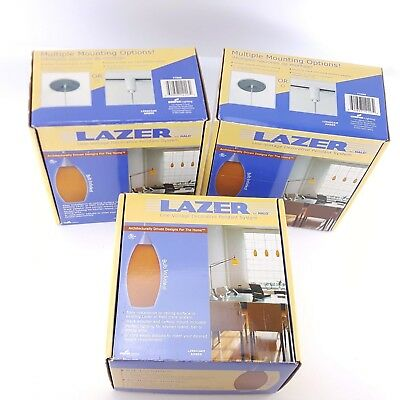 Lazer Halo Amber Track Lighting Lights Line Voltage Canopy Pendant LZR603AM