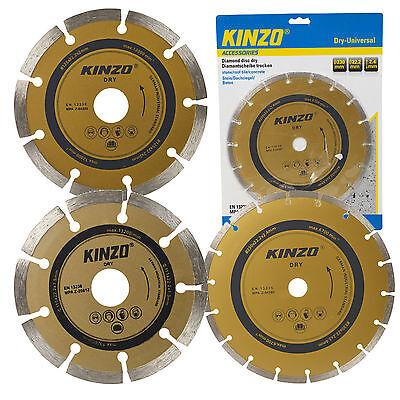 Kinzo Universal Diamond Cutting Disc Dry Metal Blade Stone Roof Tiles Concrete
