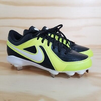 new concept f918f 72a78 Nike Unify Strike Women s Softball Cleats Size 6.5 Yellow Black Metal Spikes