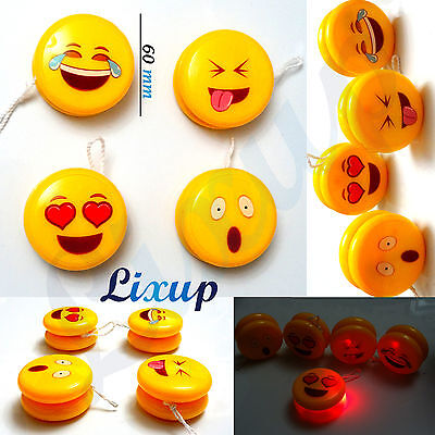 Smiley face Light Up YoYo Yo Clutch Mechanism Toy Speed Ball High Performance