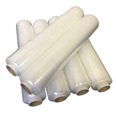 6 ROLLS OF STRONG 250M PALLET WRAP CLEAR STANDARD CORE STRETCH SHRINK WRAP 400MM