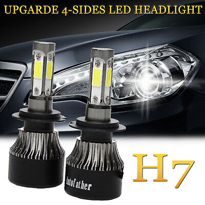 Used, 2X H7 LED Headlight Kit 56000LM High or Low Beam Bulbs 6000K Bright VS Xenon HID for sale  United Kingdom