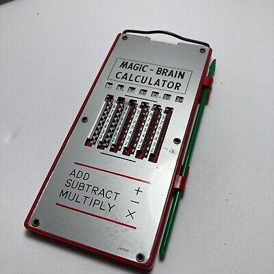 Magic-Brain Mechanical Pocket Calculator with Stylus Vintage