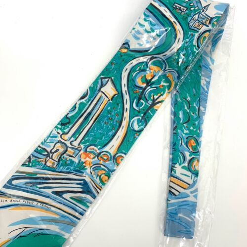 Private Issue 100% silk tie by Tina turner Villa Anna Fleur S France NEW