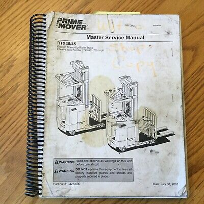 Bt Prime Mover Rtx35 Rtx45 Service Shop Repair Manual Fork Lift Reach Truck