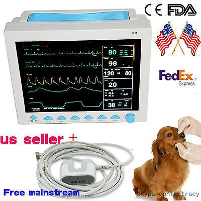 Usa Vet Veterinary Patient Monitor 6 Parameterecgnibpprspo2temprespetoc2