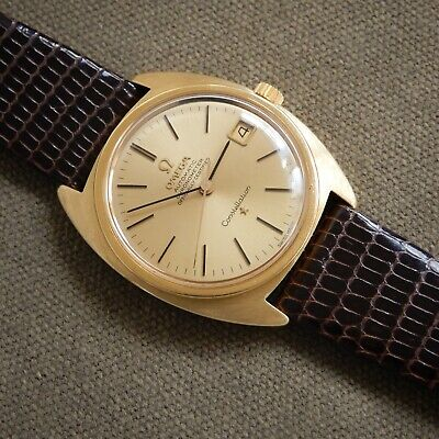 Omega 18k Solid Gold Constellation 561 Automatic C Vintage 1966 Watch 168.009