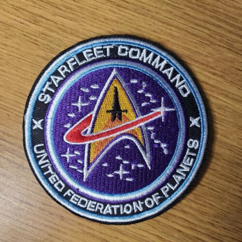 Star Trek Starfleet United Federation Of Planets Swoosh Patch 3 1/2 inches wide