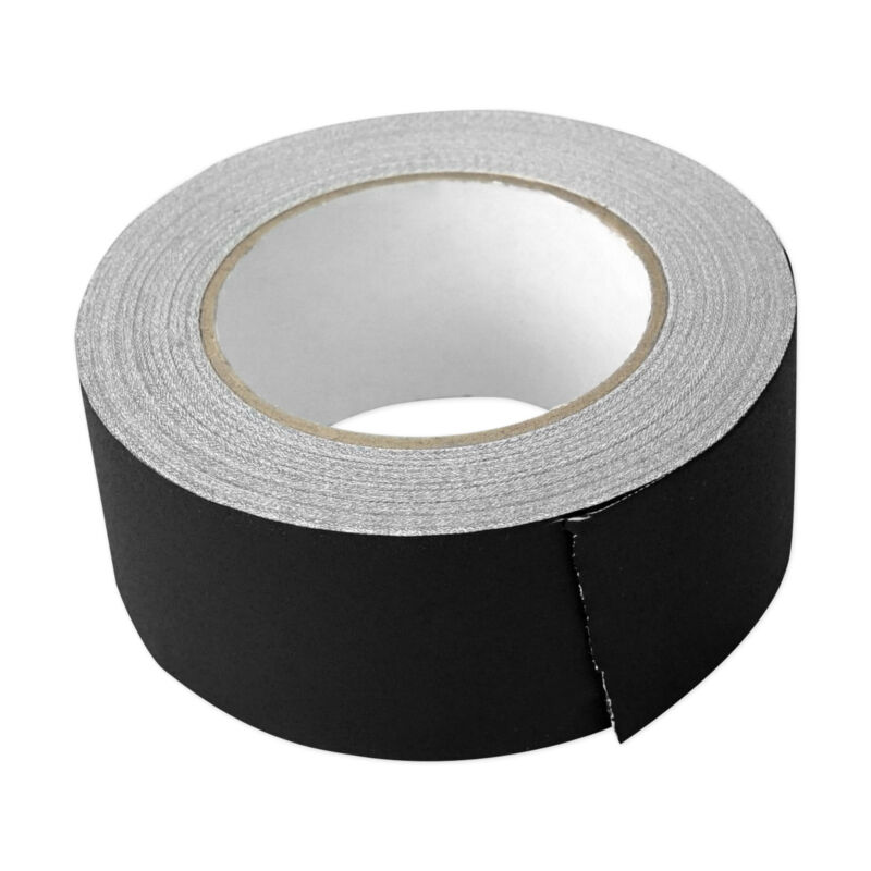 """Rockville ROCK GAFF Black Gaffers Tape 2"""" x 100 Ft For Pro Audio/Stage Wire"""