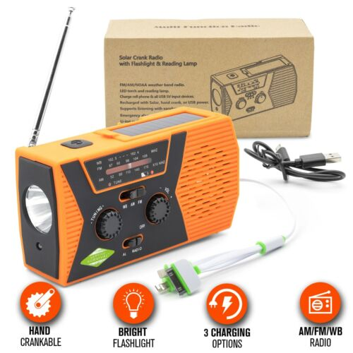 Emergency Radio - Portable Solar Charger Hand Crank Radio, NOAA Weather Radio