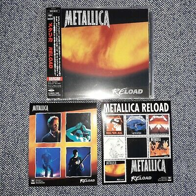 Metallica - Reload Japan 1st issue CD SRCS 8512 with Stickers &...