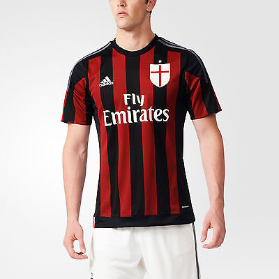 nw~Adidas AC MILAN Italy Serie A Home JERSEY Soccer Shirt Football Top~Men  sz XL