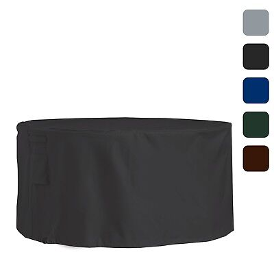 Round Table Set Cover (Outdoor Patio Round Table & Chair Set Cover Waterproof Heavy Duty 18 Oz)
