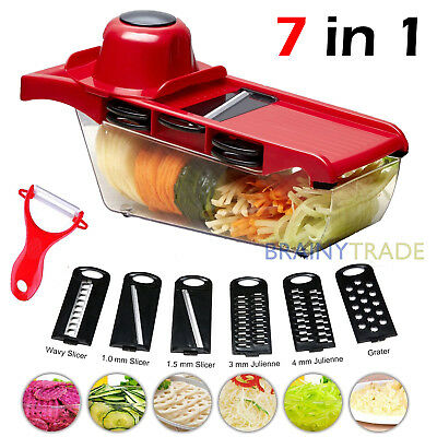 (Manual Vegetable Slicer Potato Fruit Cutter Stainless Steel Mandoline Kitchen)