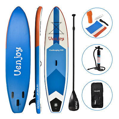 10' Inflatable SUP Stand up Paddle Board Surfboard Adjustable Fin Paddle - Stand Up Surfboard