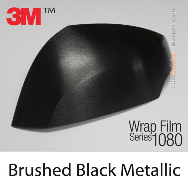 120x150cm Film Metal Brushed Black 3M 1080 BR212 Vinyl COVERING Wrap