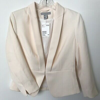 H&M Women's Size 4 Soft Pink Fully Lined Career Blazer NWT