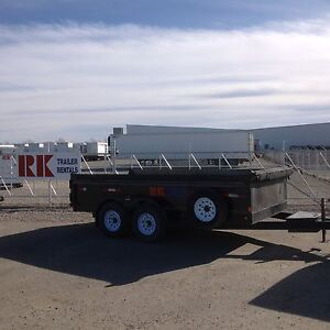 Various sizes of dump trailers available