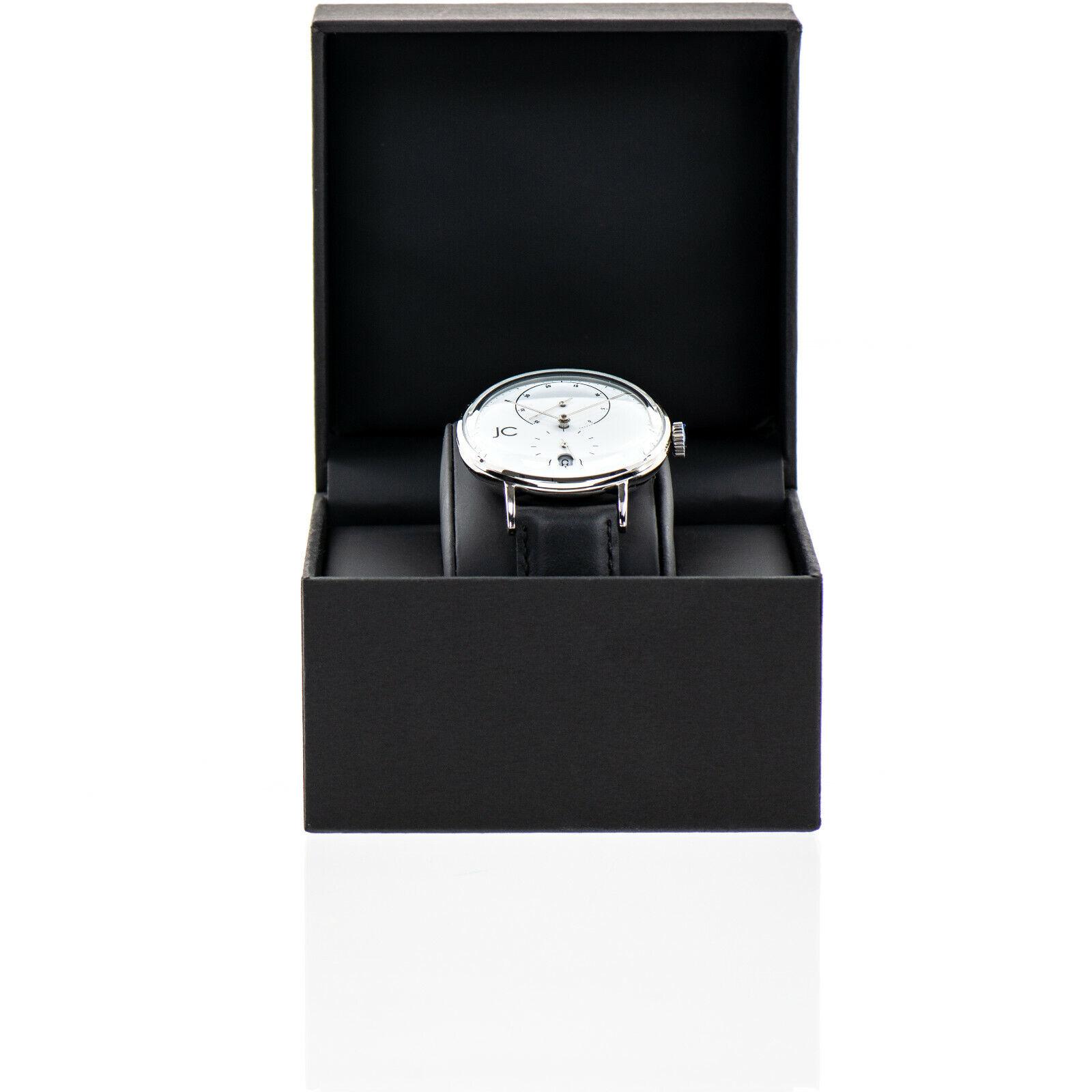 Jean Constantine Automatik Armbanduhr Echtleder Herren Uhr mechanisch Herrenuhr
