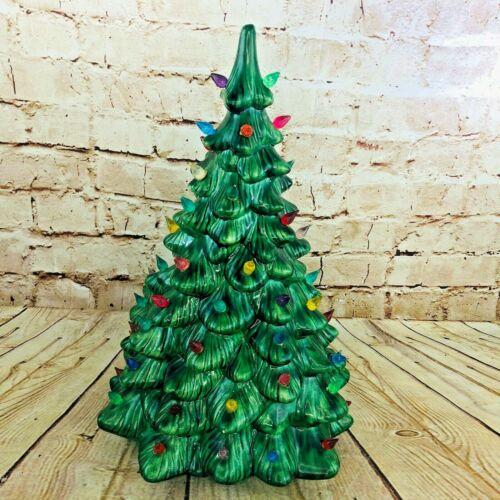 "VINTAGE 1971 ATLANTIC MOLD CERAMIC 16"" CHRISTMAS TREE no base"