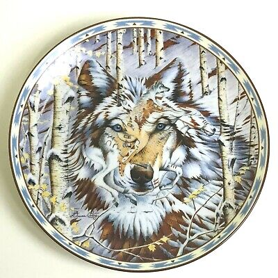 Diana Casey Kindred Spirits #1 Plate Eyes of the Wolf Bradford Exchange 1995