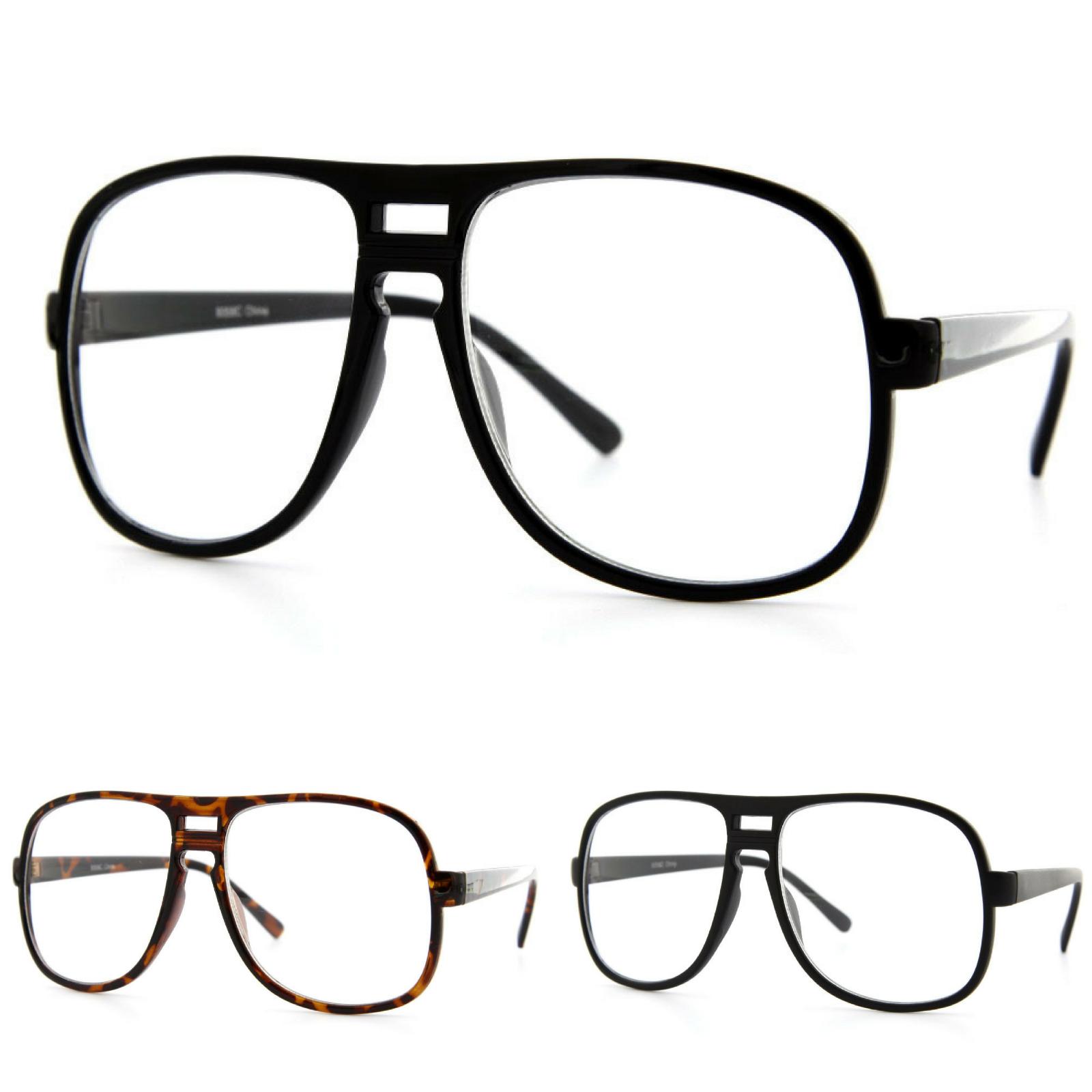Oversized Sunglasses Eyeglasses Designer Clear Lens Retro Fa