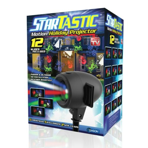 Startastic Motion Outdoor Holiday Projector Halloween & ChristmasM - 12 Modes!