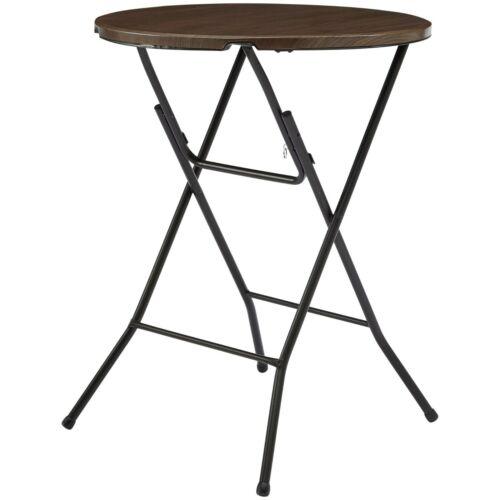 "31"" Round High Top Folding Table, Walnut"