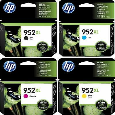 4 PACK HP GENUINE 952XL Ink (NO RETAIL BOX) for OFFICEJET PRO 7740 8702