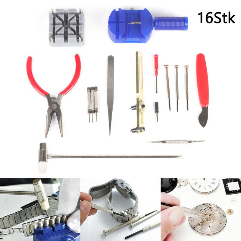 Uhrenwerkzeug 16 tlg. Teilig Uhrmacherwerkzeug Set Tool Kit Reparatur Watch Neu