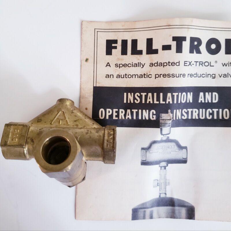 Amtrol 109-15 Fill Control Fil-Trol Valve For Ex-Trol